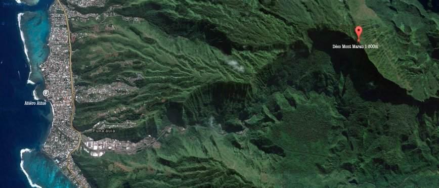 Tahiti parapente mont marau