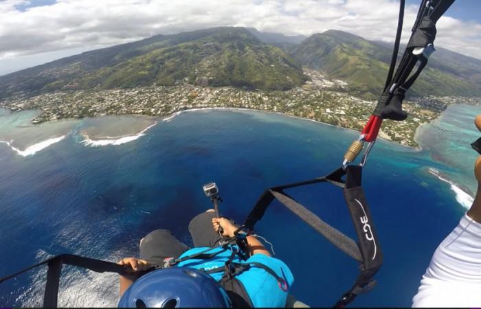 Tahiti tandem parapente