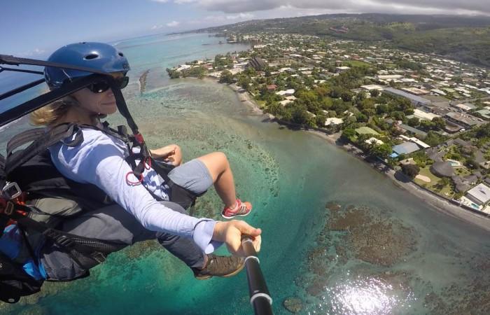 offrir un vol en parapente à Tahiti