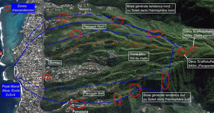 plan de vol parapente to a rotu rahi